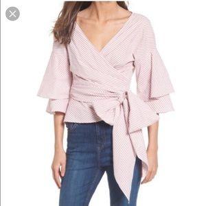 Wayf wrap blouse
